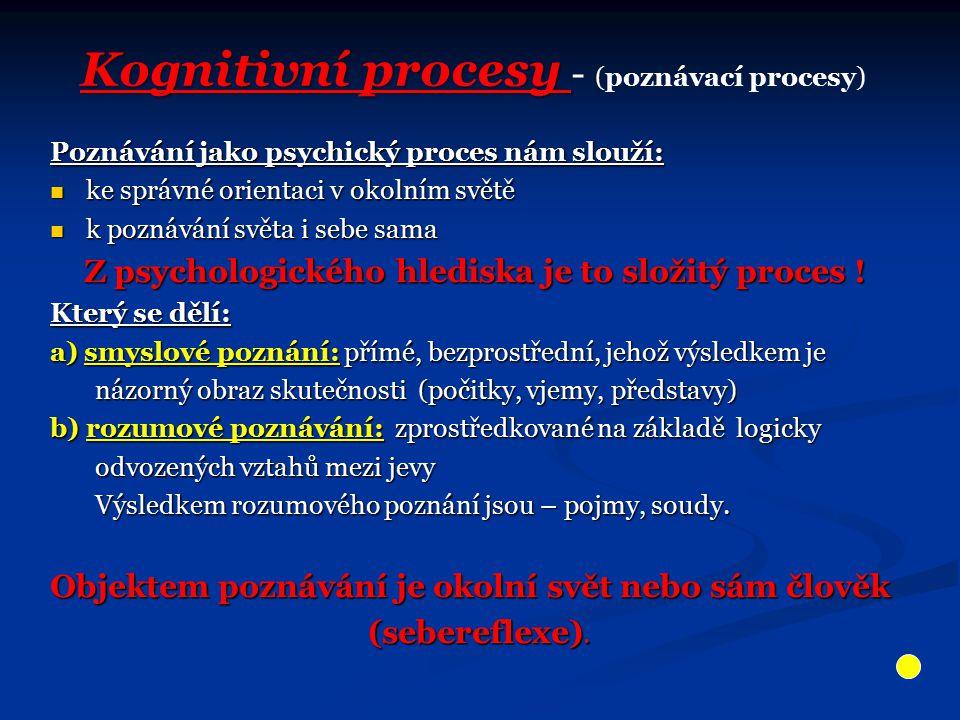 Z psychologického hlediska je to složitý proces !