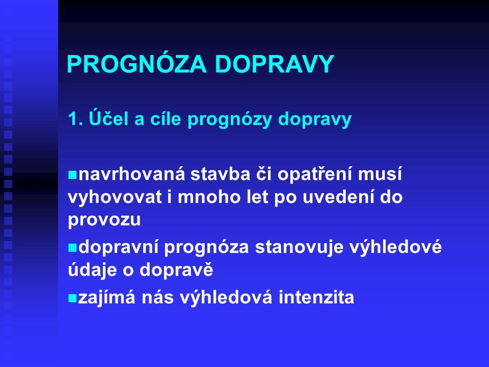PROGNÓZA DOPRAVY 1. Účel a cíle prognózy dopravy