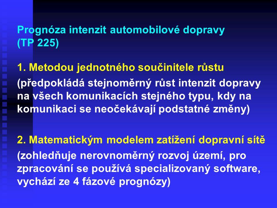 Prognóza intenzit automobilové dopravy (TP 225)