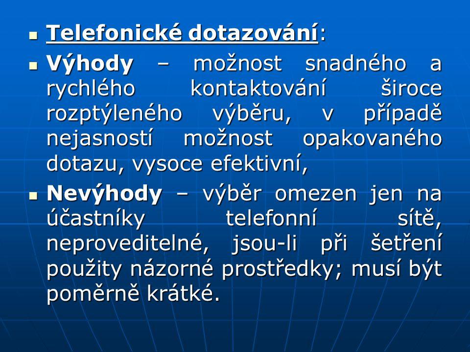 Telefonické dotazování: