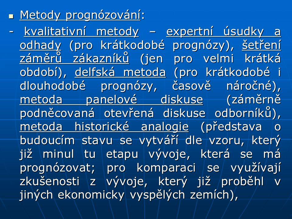 Metody prognózování: