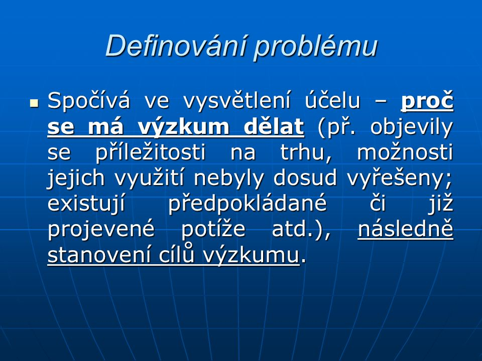 Definování problému