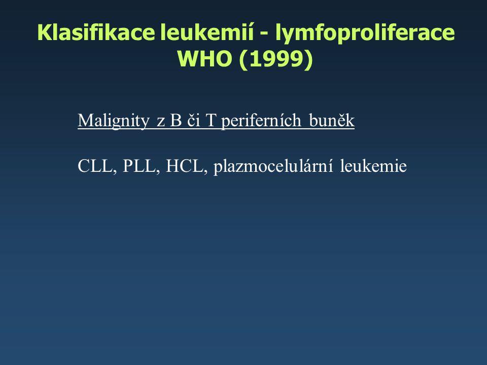 Klasifikace leukemií - lymfoproliferace