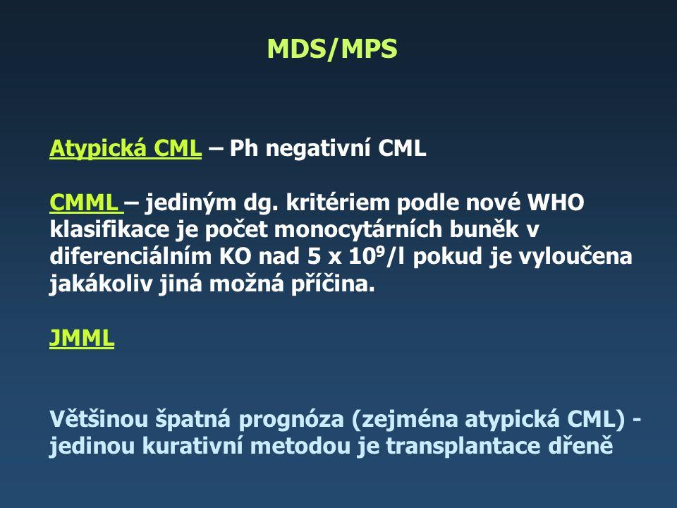 MDS/MPS Atypická CML – Ph negativní CML