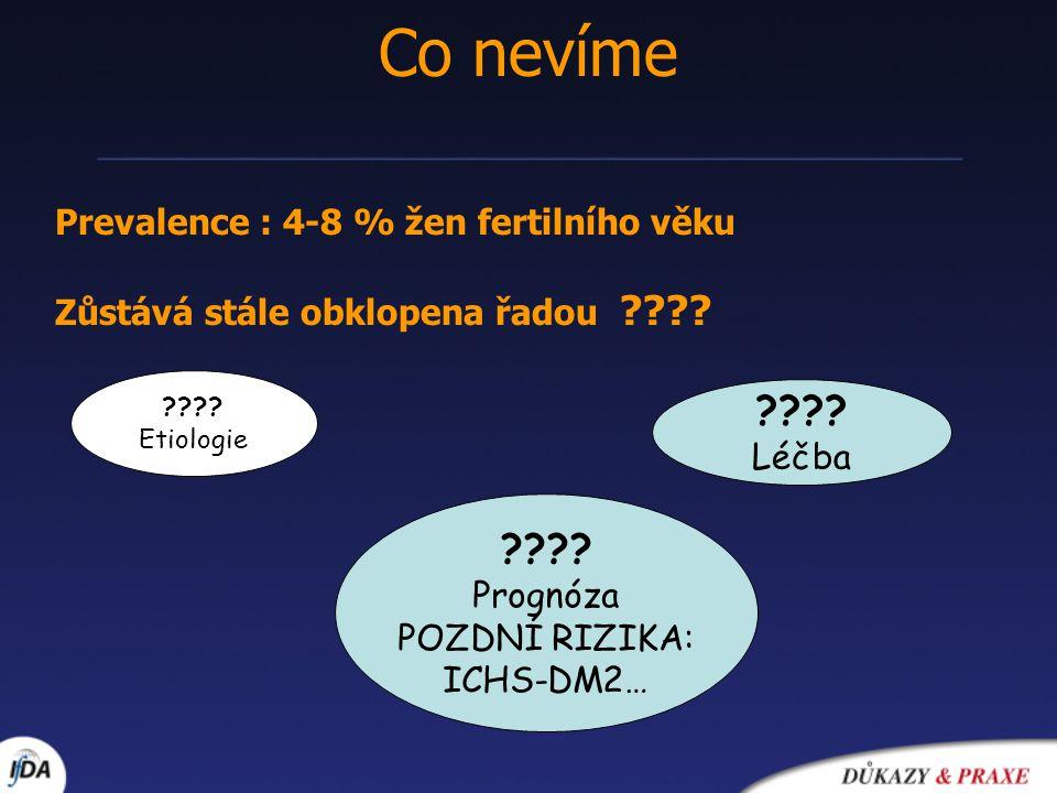 Co nevíme Prevalence : 4-8 % žen fertilního věku