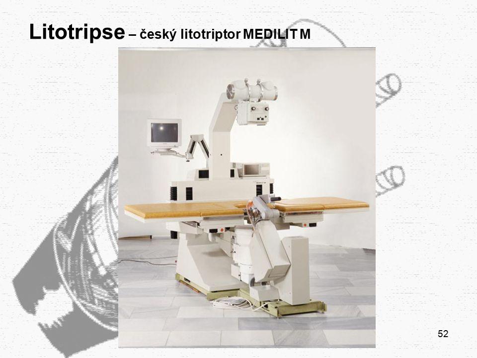 Litotripse – český litotriptor MEDILIT M