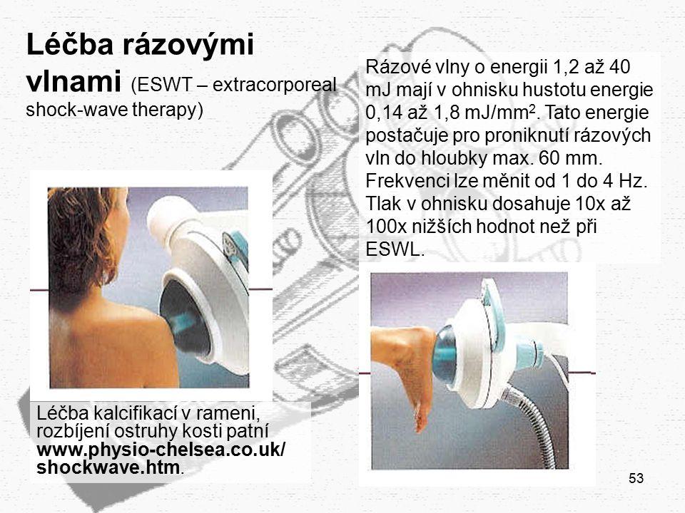 Léčba rázovými vlnami (ESWT – extracorporeal shock-wave therapy)