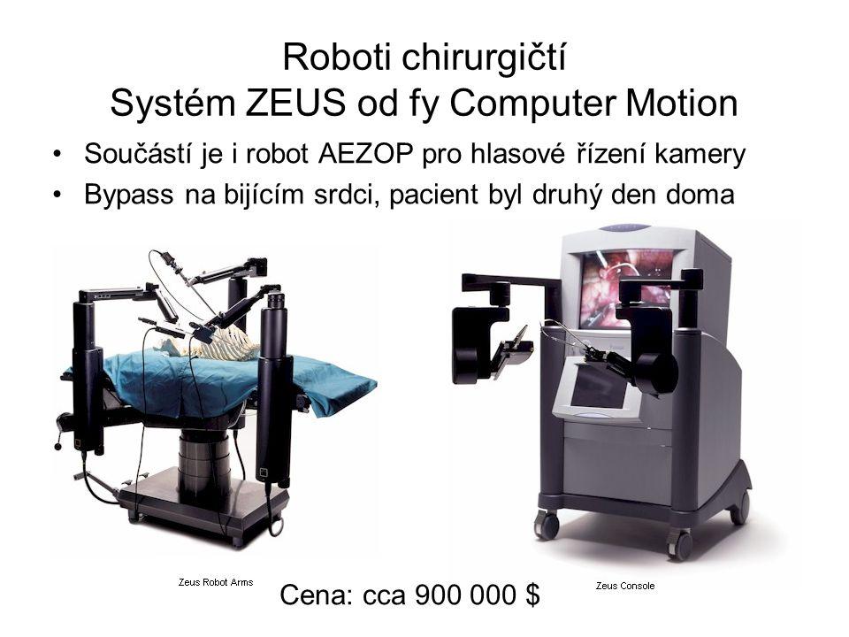 Roboti chirurgičtí Systém ZEUS od fy Computer Motion