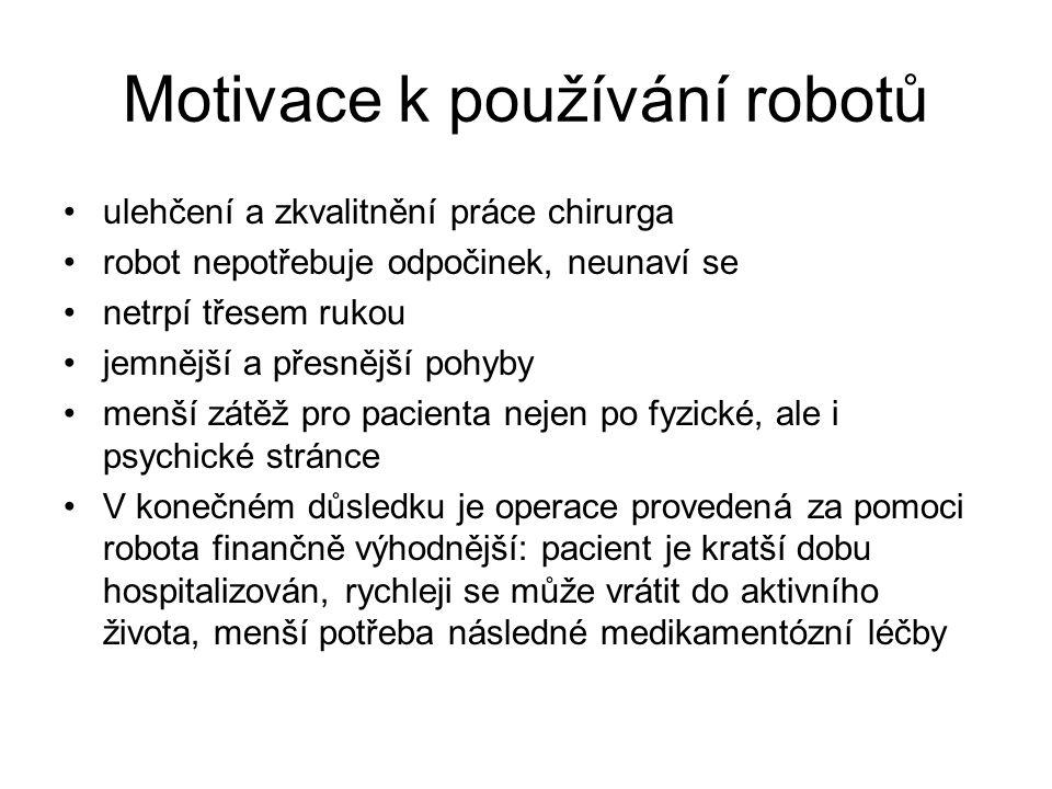 Motivace k používání robotů