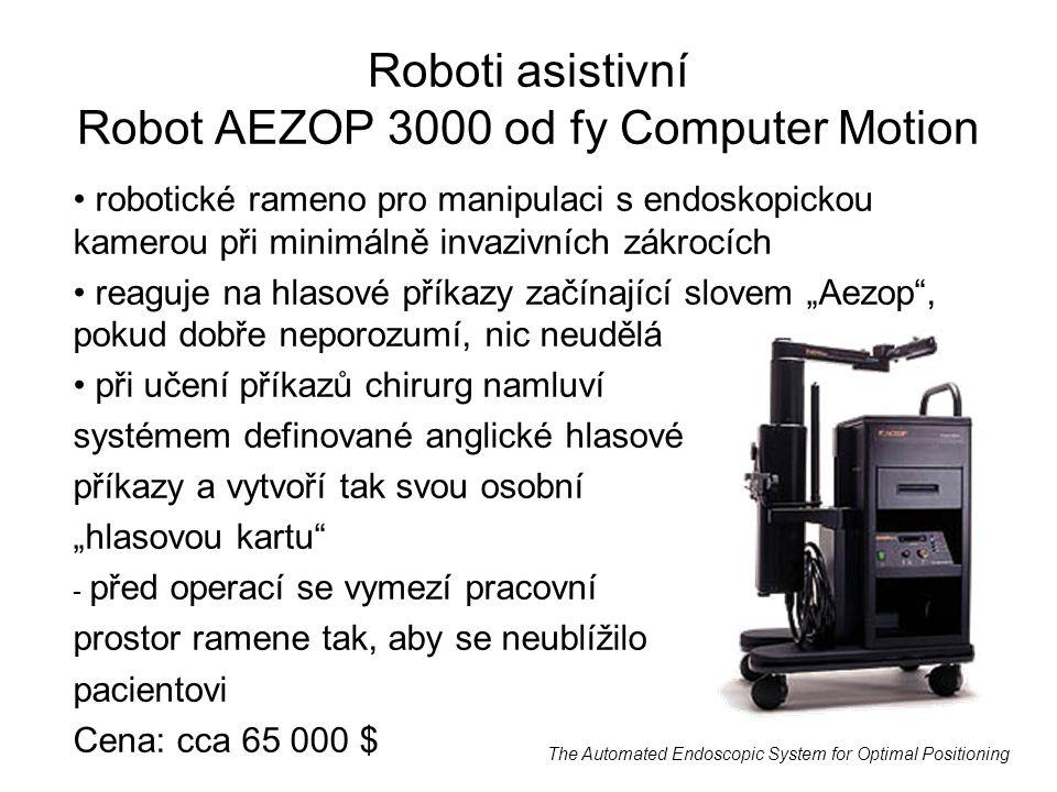 Roboti asistivní Robot AEZOP 3000 od fy Computer Motion