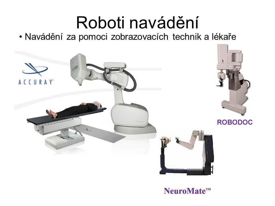 Roboti navádění Navádění za pomoci zobrazovacích technik a lékaře