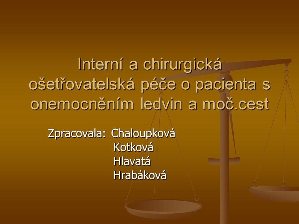 Zpracovala: Chaloupková Kotková Hlavatá Hrabáková