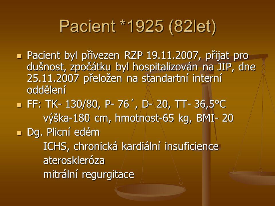 Pacient *1925 (82let)