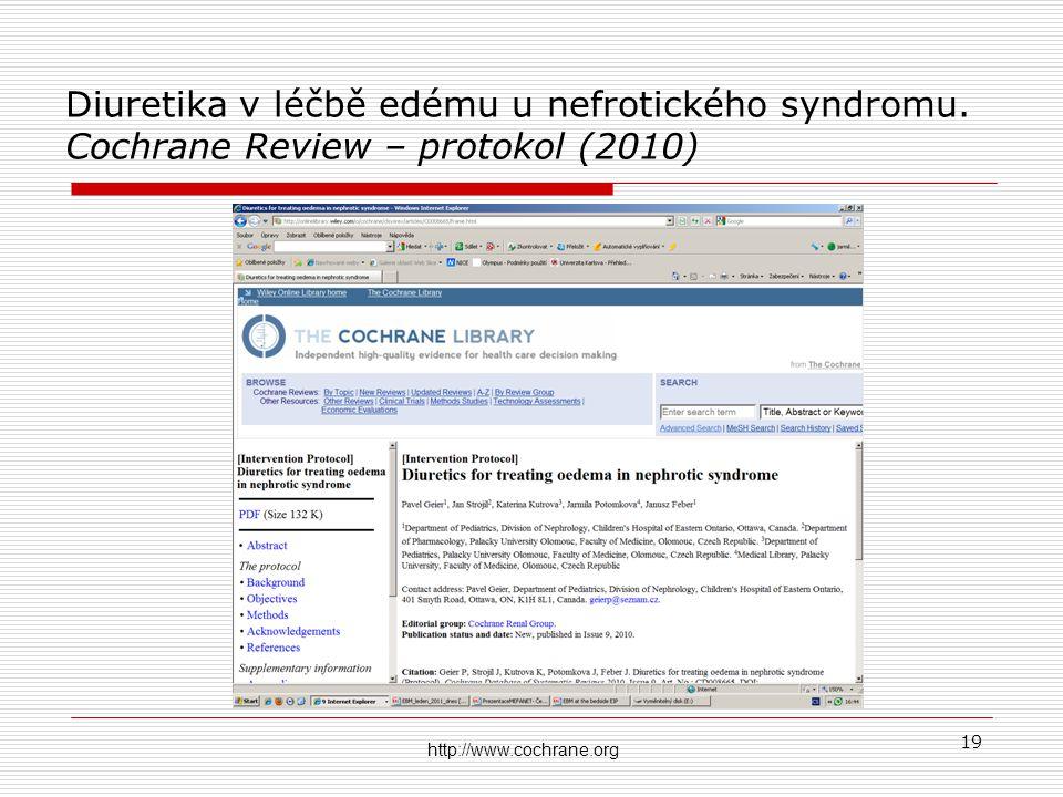 Diuretika v léčbě edému u nefrotického syndromu