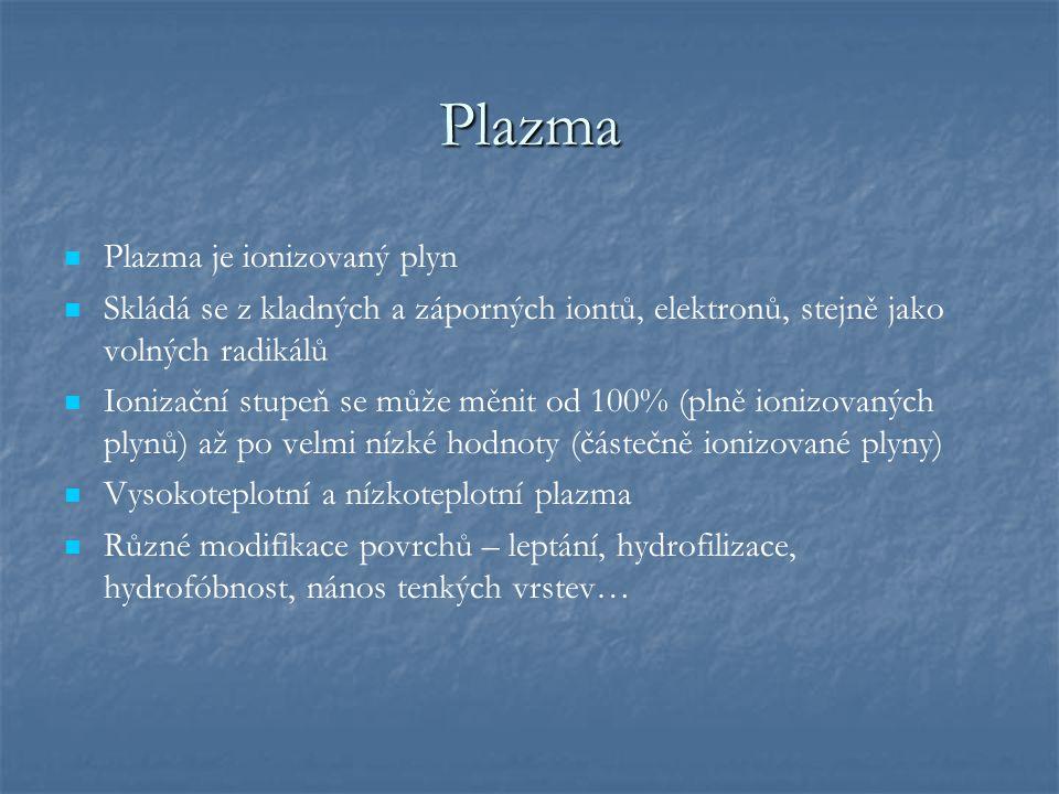 Plazma Plazma je ionizovaný plyn