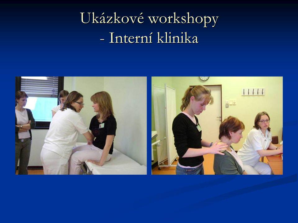 Ukázkové workshopy - Interní klinika
