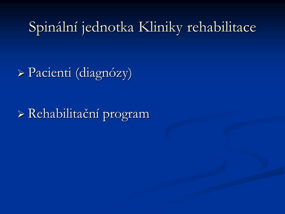 Spinální jednotka Kliniky rehabilitace