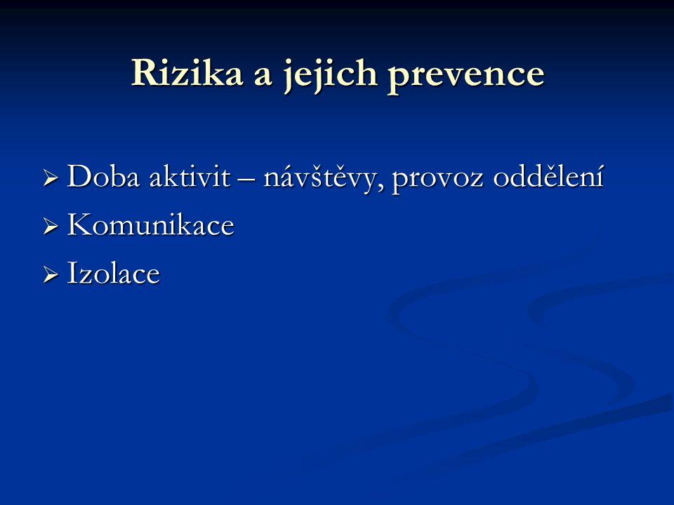 Rizika a jejich prevence