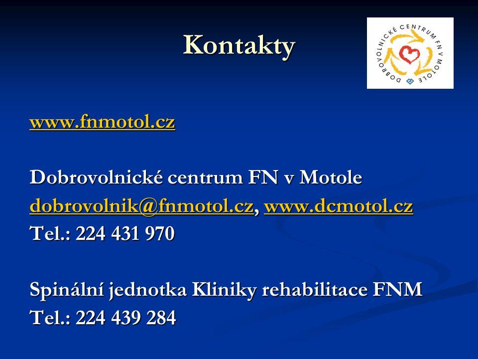 Kontakty www.fnmotol.cz Dobrovolnické centrum FN v Motole