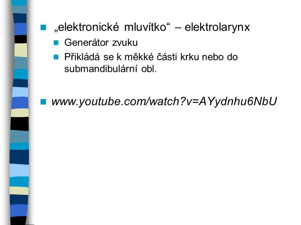 """elektronické mluvítko – elektrolarynx"
