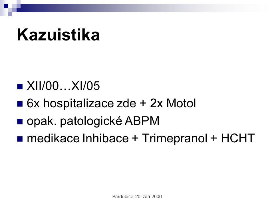 Kazuistika XII/00…XI/05 6x hospitalizace zde + 2x Motol