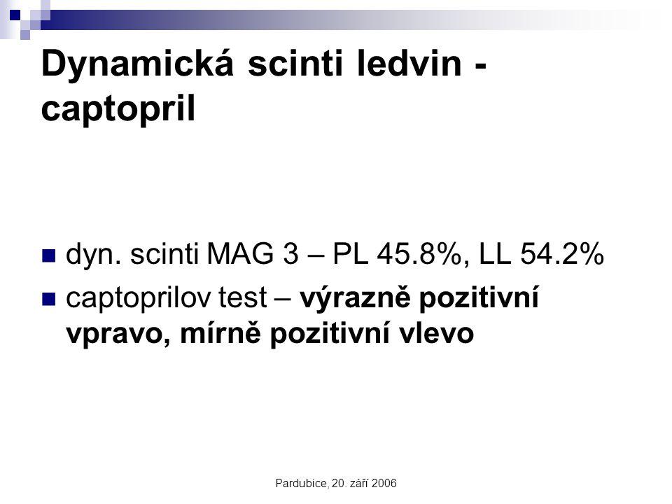 Dynamická scinti ledvin - captopril