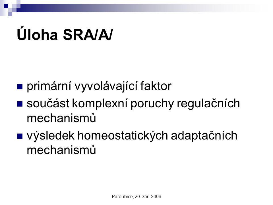 Úloha SRA/A/ primární vyvolávající faktor