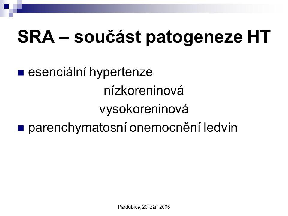 SRA – součást patogeneze HT