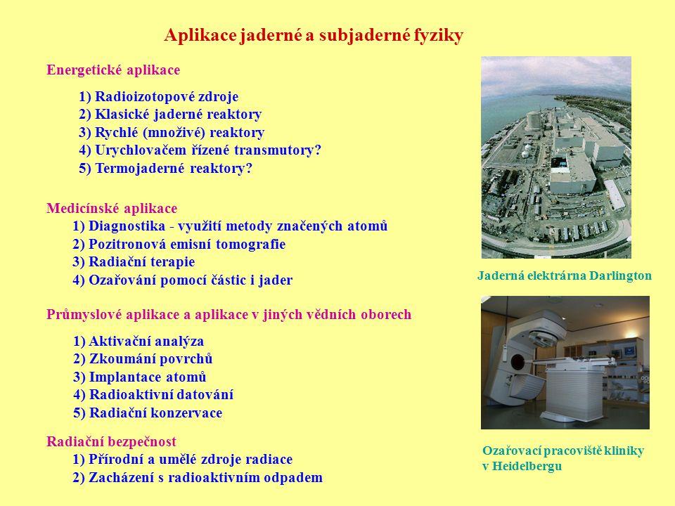 Aplikace jaderné a subjaderné fyziky