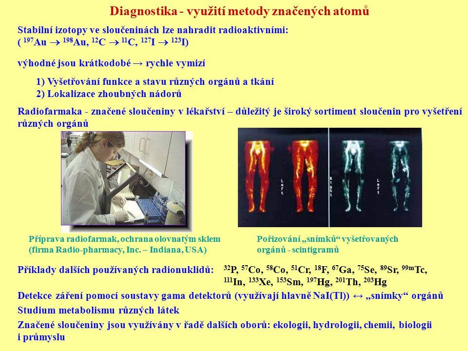 Diagnostika - využití metody značených atomů