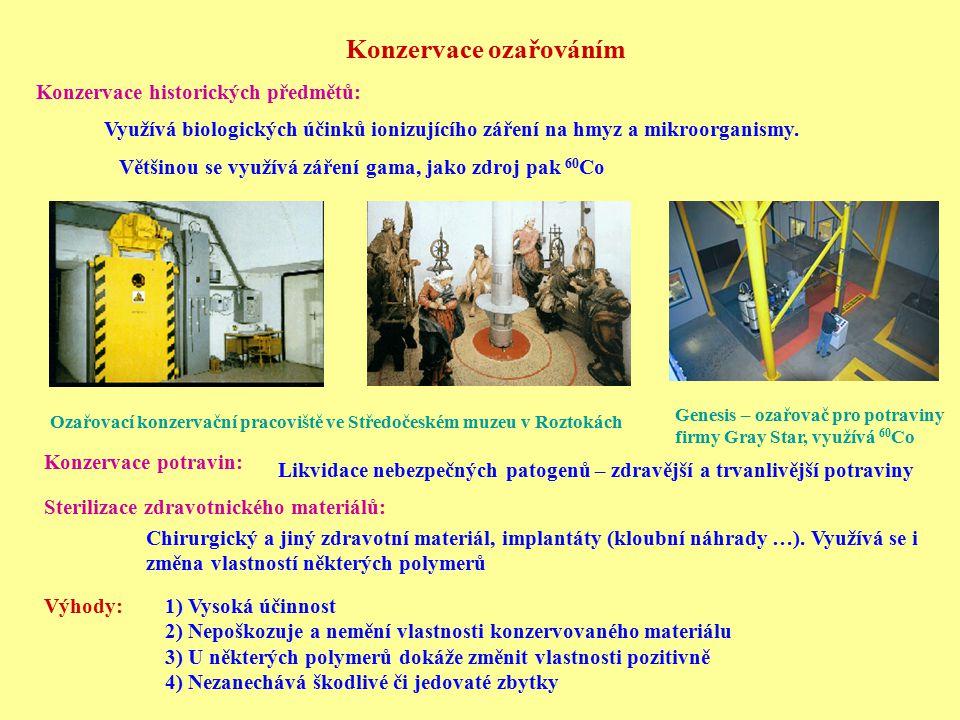 Ozařovací konzervační pracoviště ve Středočeském muzeu v Roztokách