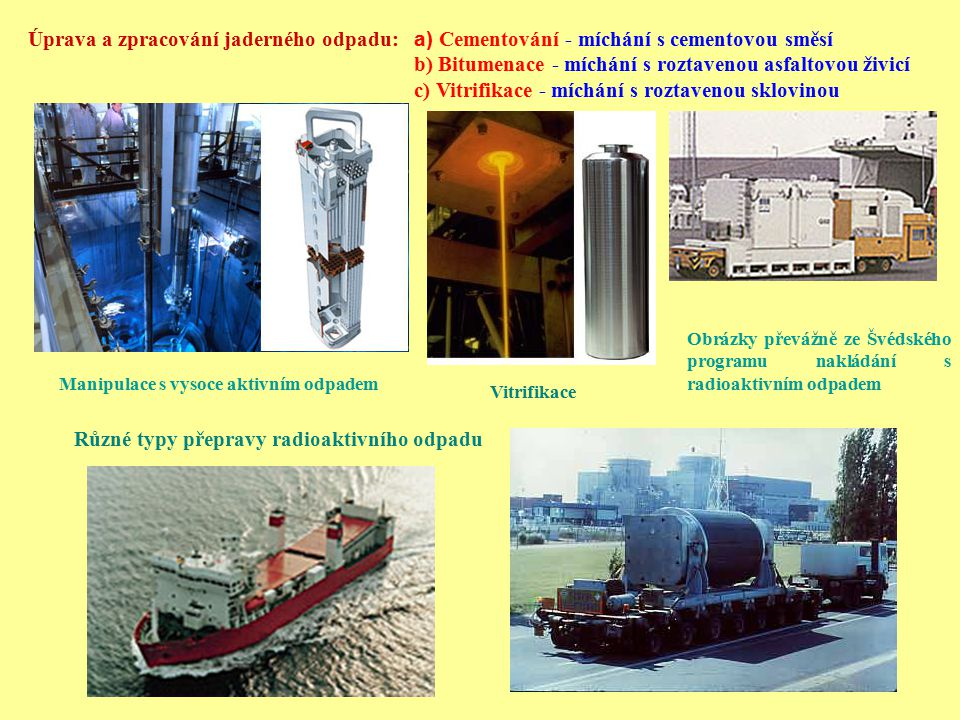 Úprava a zpracování jaderného odpadu: