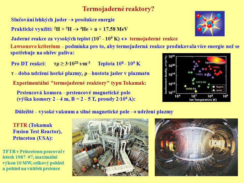 Termojaderné reaktory