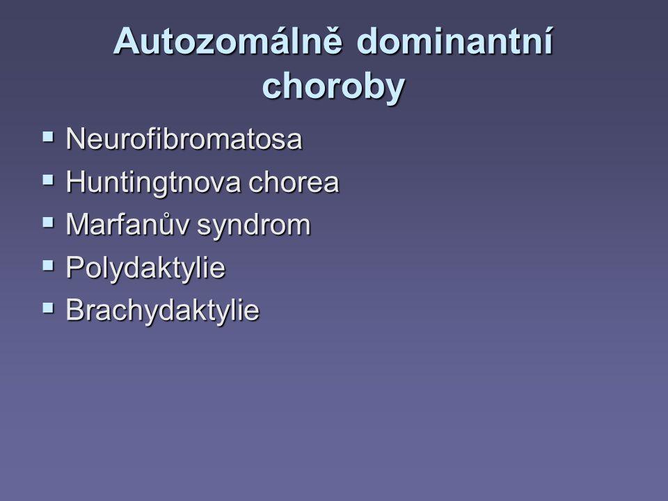 Autozomálně dominantní choroby