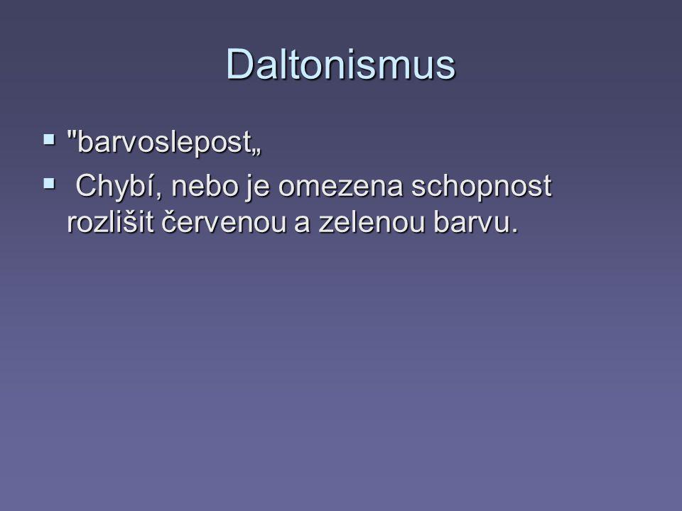 "Daltonismus barvoslepost"""