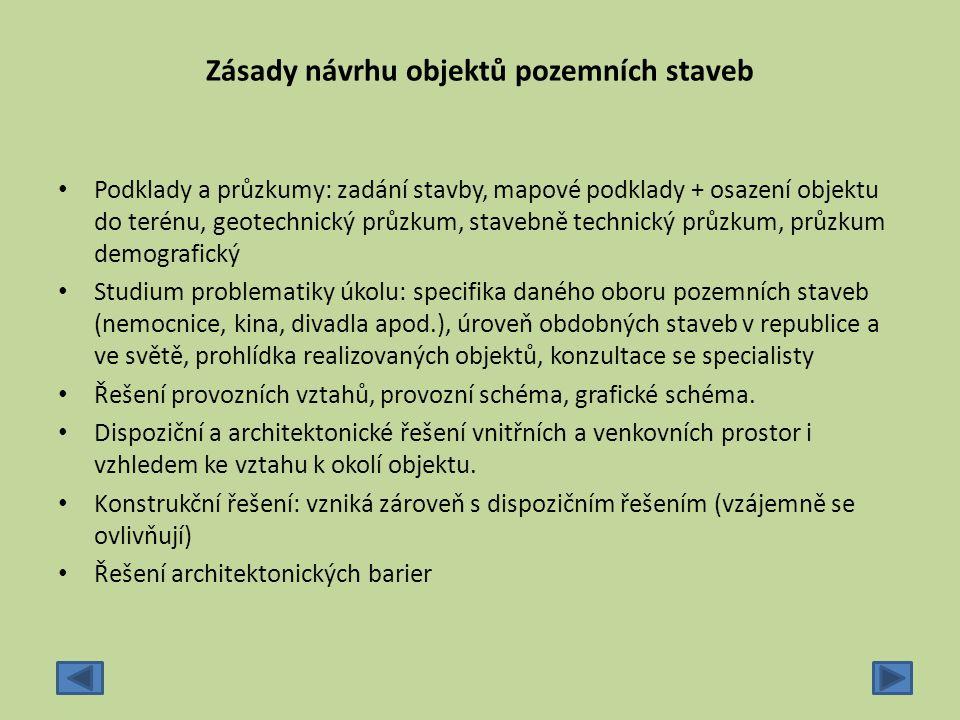 Zásady návrhu objektů pozemních staveb