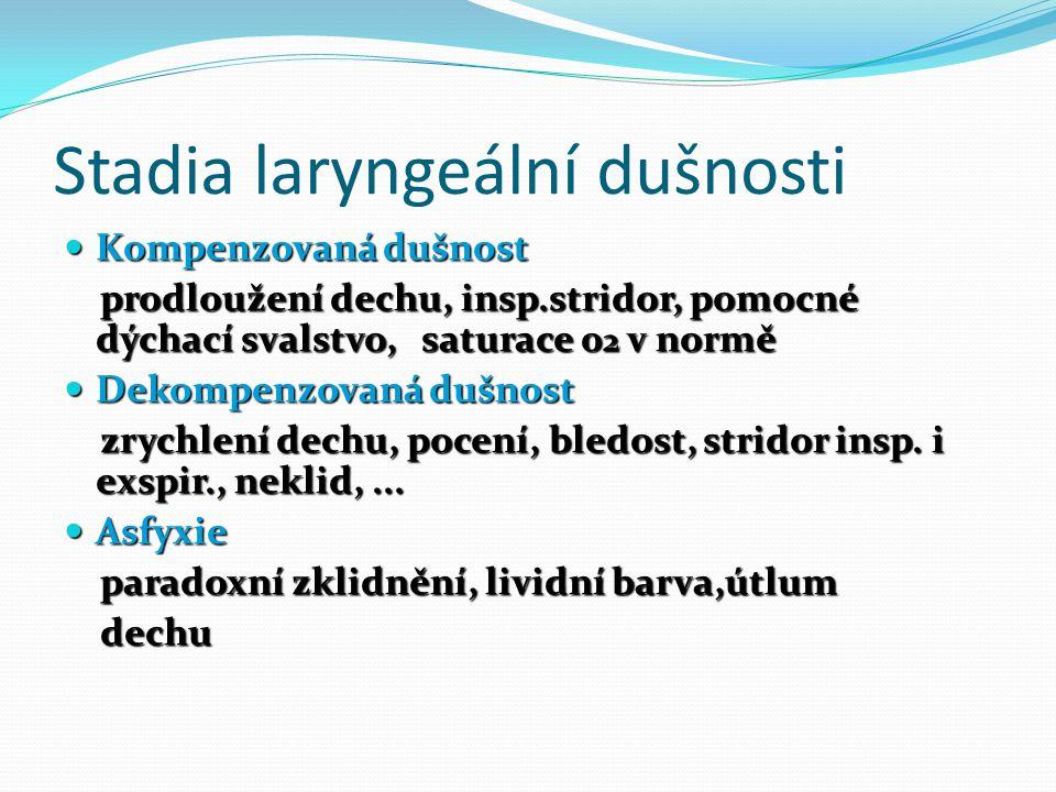 Stadia laryngeální dušnosti