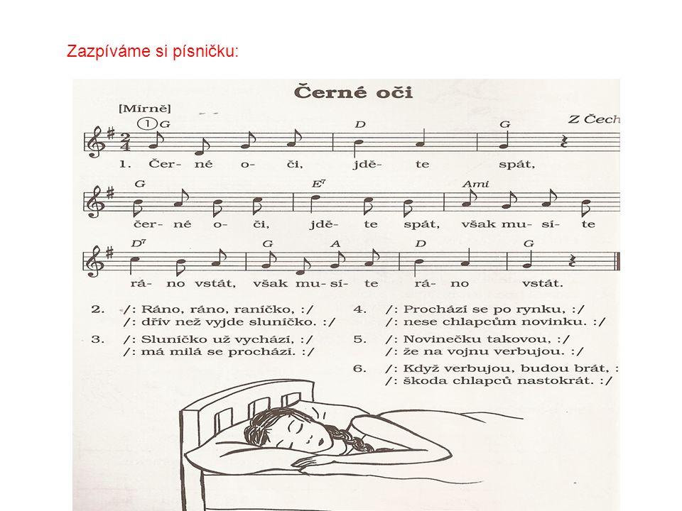 Zazpíváme si písničku: