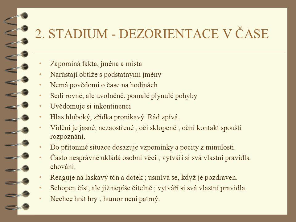 2. STADIUM - DEZORIENTACE V ČASE