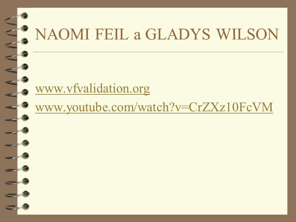 NAOMI FEIL a GLADYS WILSON