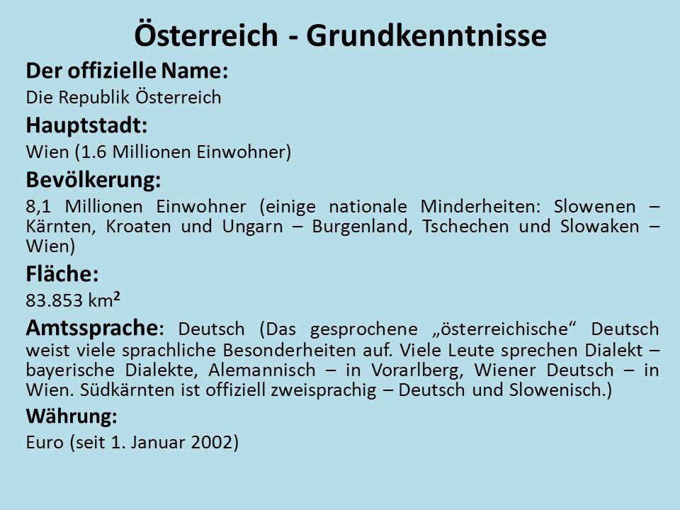 Österreich - Grundkenntnisse