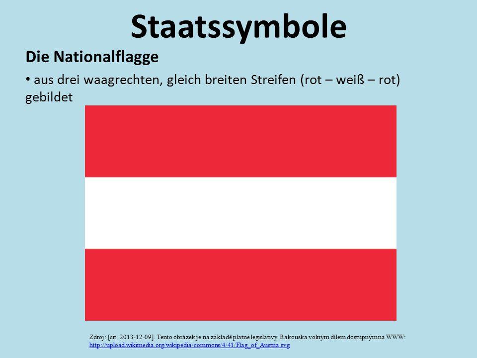 Staatssymbole Die Nationalflagge