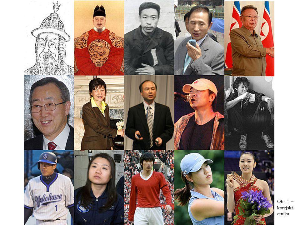 Obr. 5 – korejská etnika
