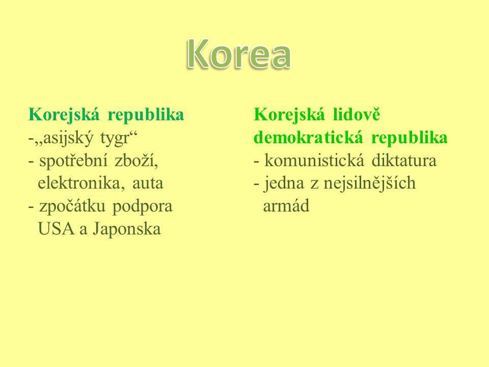 """Korea Korejská republika """"asijský tygr spotřební zboží,"""
