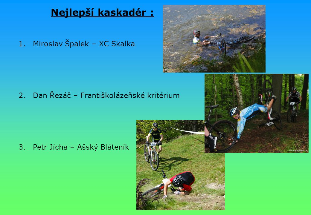 Nejlepší kaskadér : Miroslav Špalek – XC Skalka