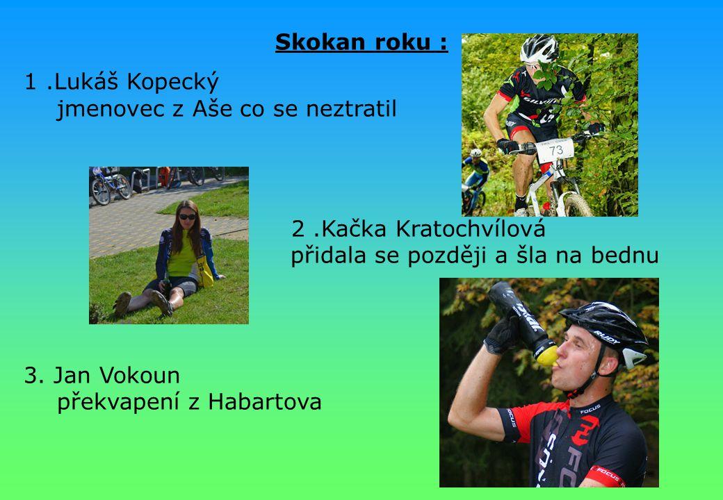Skokan roku : 1 .Lukáš Kopecký jmenovec z Aše co se neztratil.