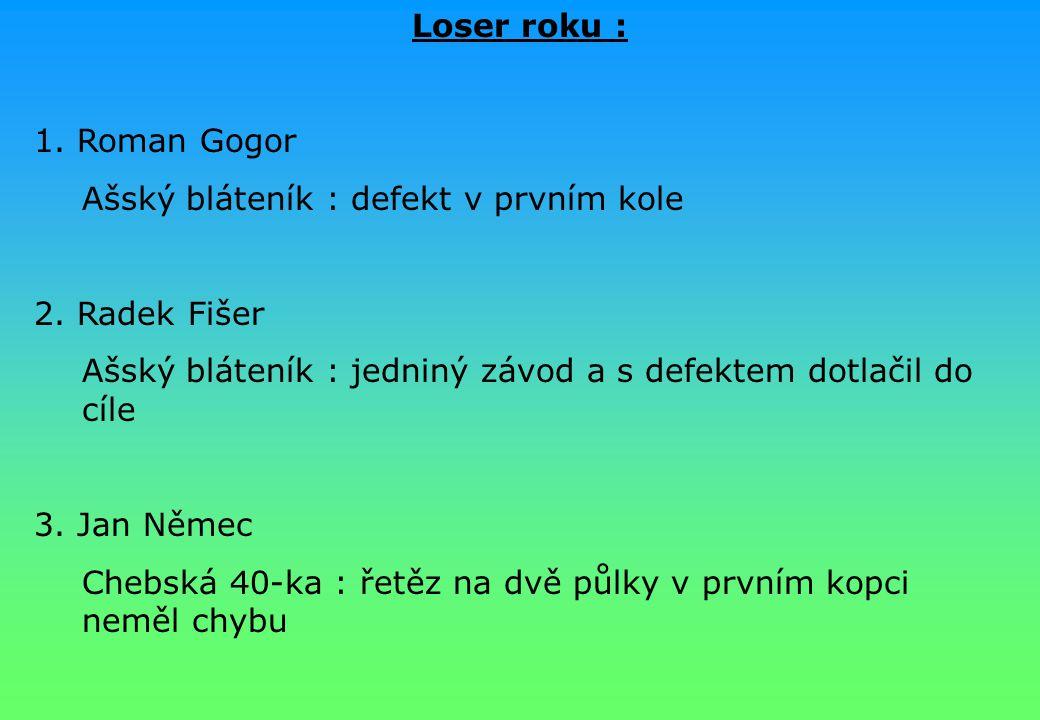 Loser roku : 1. Roman Gogor. Ašský bláteník : defekt v prvním kole. 2. Radek Fišer. Ašský bláteník : jedniný závod a s defektem dotlačil do cíle.