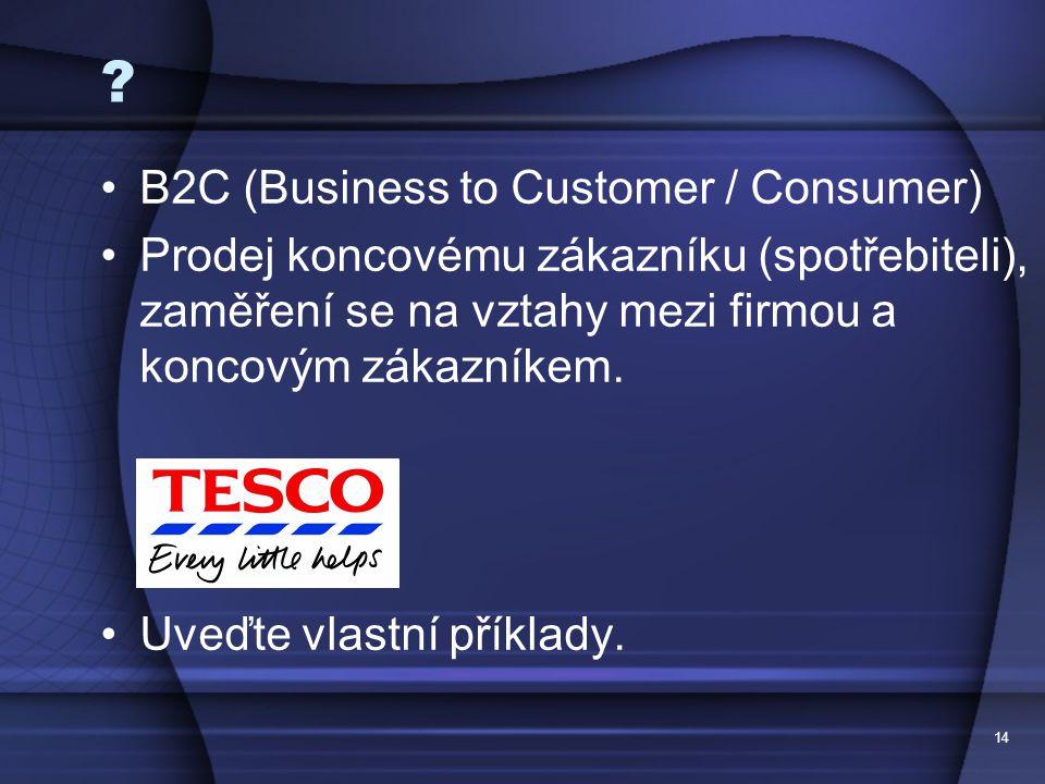 B2C (Business to Customer / Consumer)