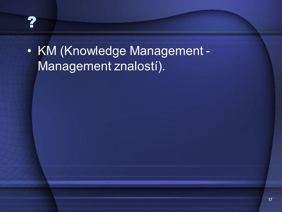 KM (Knowledge Management - Management znalostí). 17