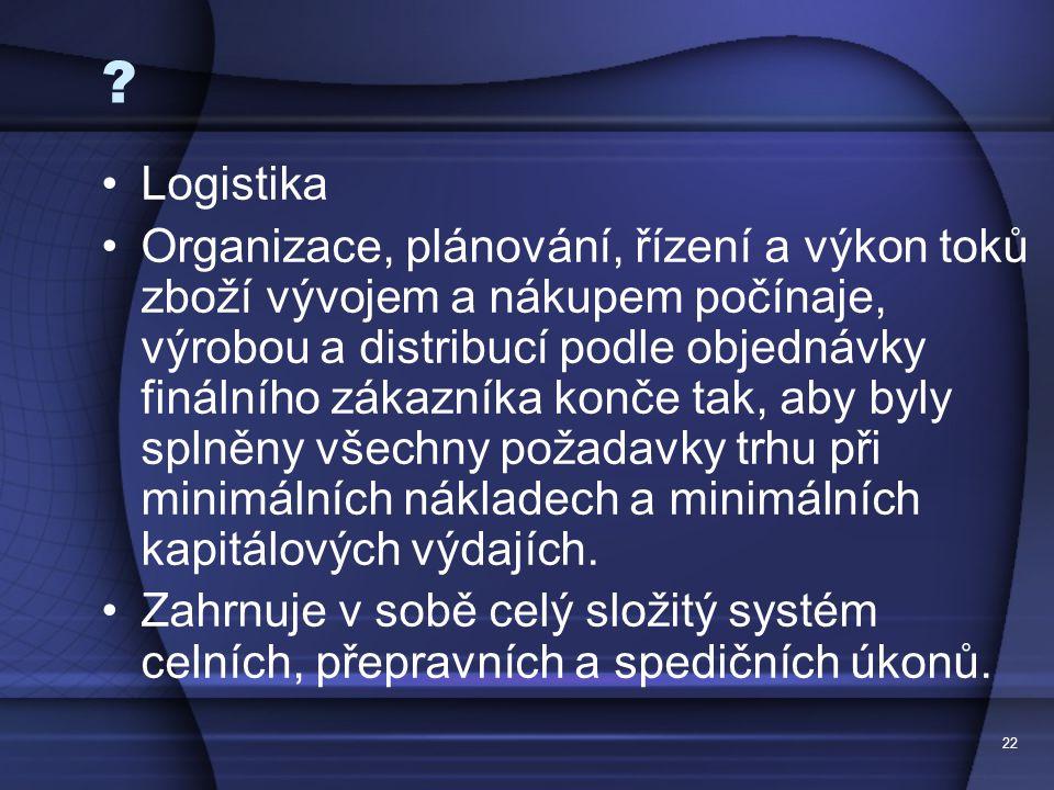 Logistika.